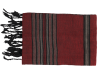 echarpe rouge rayee noir 3
