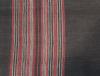 echarpe noire rayee rouge 2