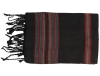echarpe noire rayee rouge 3