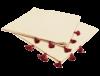 serviettes de table coton pompons rouges