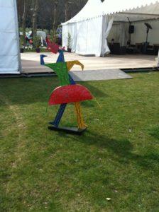 Sculpture de jardin multicolore déco de Jardin