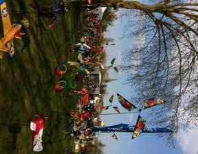 Déco de jardin éoliennes multicolores