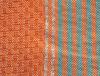 Foutas orange rayée liseré argent 4