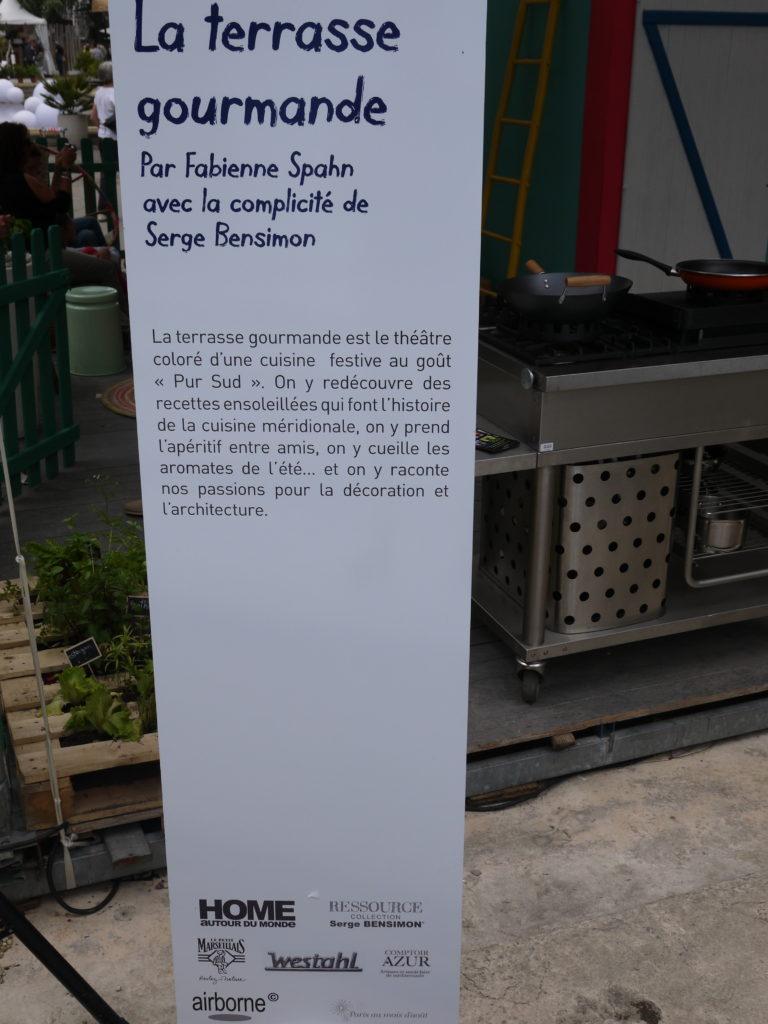 terrasse gourmande texte Fabienne Spahn Salon Vivre Coté Sud 2013