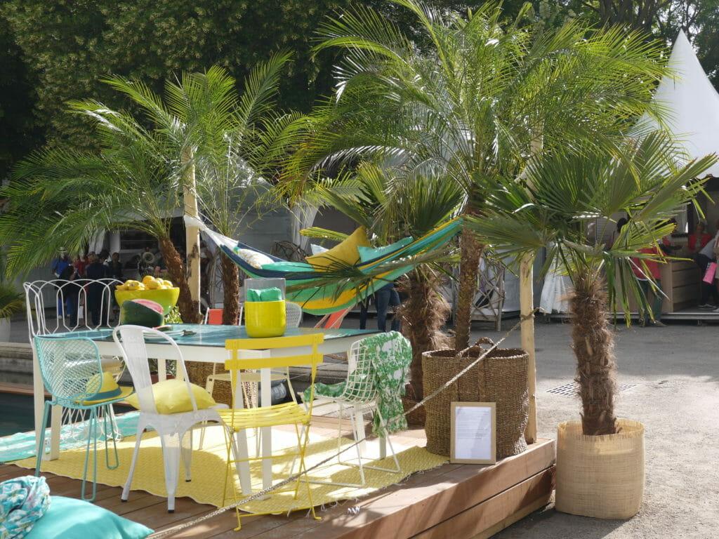côté droit terrasse plein soleil Salon Vivre Côté Sud 2013