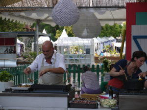 terrasse gourmande coté bois d'olivier Gérard Vives aux manettes Salon Vivre Coté Sud 2013