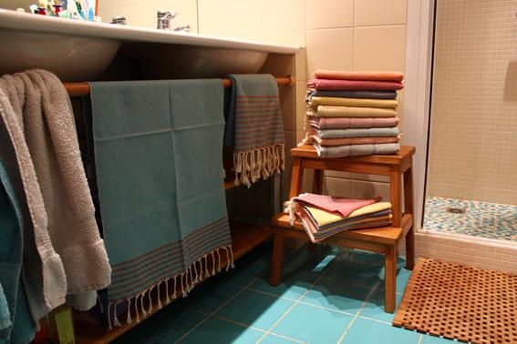 Serviettes de bain Comptoir Azur