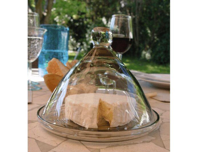 Petite cloche en verre soufflé incolore