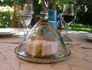 cloche à fromage en verre soufflé