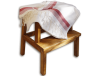 Fouta blanche rayée rouge