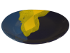 assiettes plates ovales terre cuite emaillee jaune
