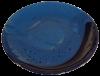 assiettes plates rondes terre cuite emaillee bleu