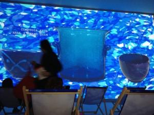 saladier et bol en céramique émaillée bleus François Bernard tendance déco 2014 Heliotropic comptoir azur
