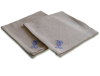serviettes de table en tissu lin brodé arabesque bleu 3