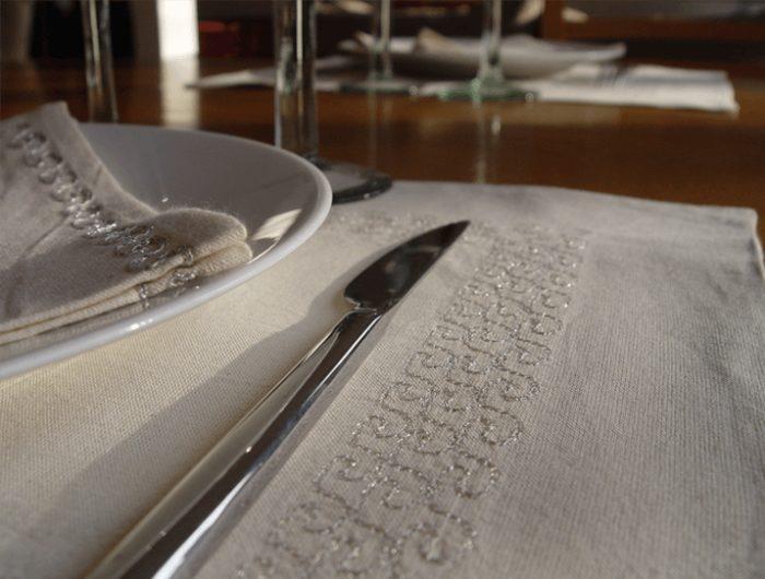 sets de table ivoire coton 4