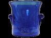 seau a glace en verre soufflé bleu