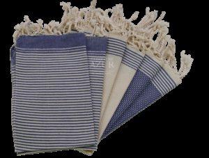 foutas sets de table bleu serviettes invités mettez votre linge de maison en valeur