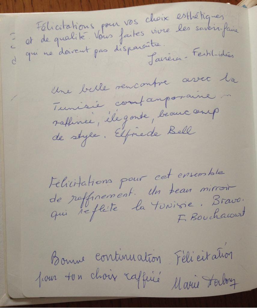 Boutique éphémère Comptoir Azur Déc 2014 Livre d'or page 1