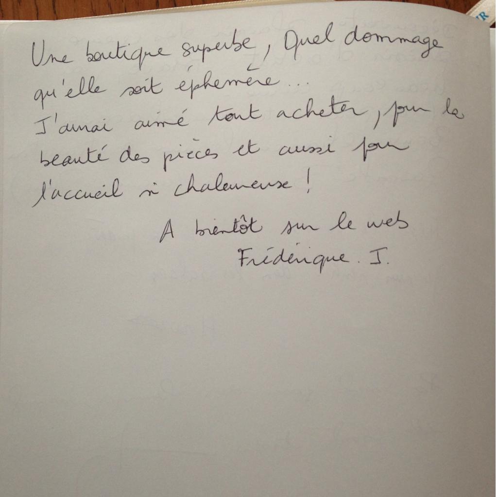 Boutique éphémère Comptoir Azur Déc 2014 Livre d'or Page 3