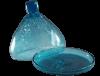 Petite cloche en verre soufflé turquoise 3