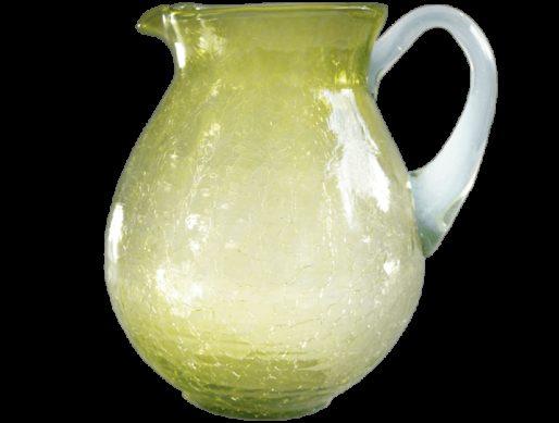 Carafe en verre soufflé jaune eau 4