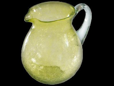 Carafe en verre soufflé jaune eau 3