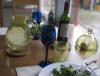 Carafe en verre soufflé jaune eau 2