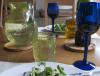 Carafe en verre soufflé jaune eau 1