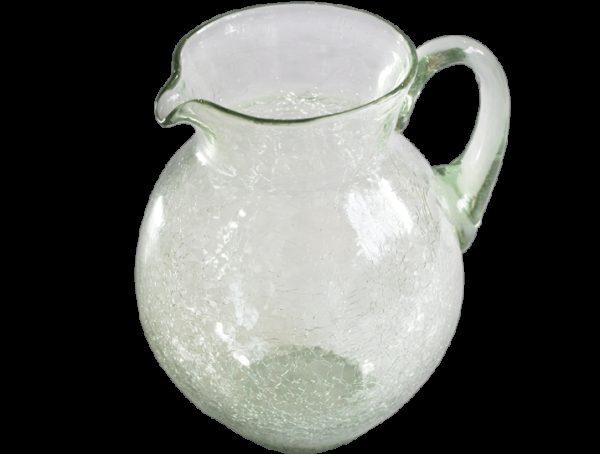 Carafe en verre soufflé incolore eau 2
