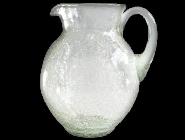 Carafe en verre soufflé incolore eau