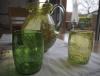 gobelet en verre soufflé vert