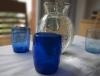 Verre à eau ou à whisky bleu foncé en verre soufflé 3