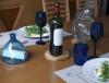 gobelet en verre soufflé bleu foncé