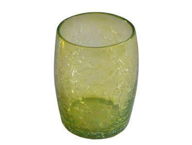 gobelet verre souffle jaune 01