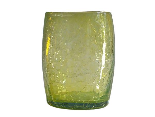 gobelet verre souffle jaune 02
