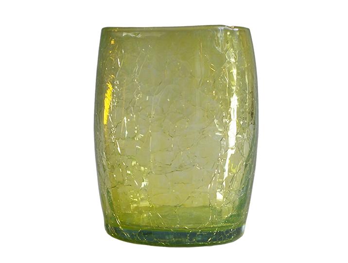 gobelet en verre jaune souffl bouche produit artisanal. Black Bedroom Furniture Sets. Home Design Ideas
