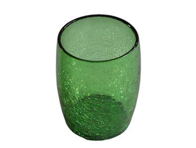 gobelet verre souffle vert 01