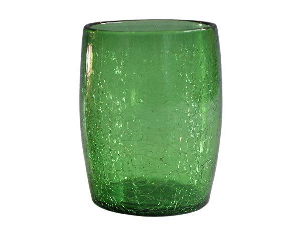 gobelet verre souffle vert 02