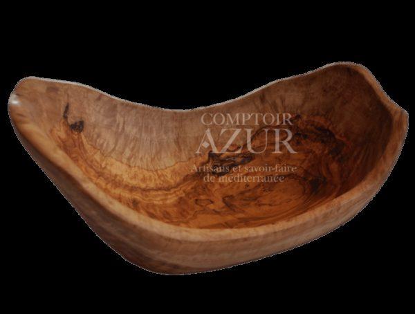 Saladier original en bois d'olivier
