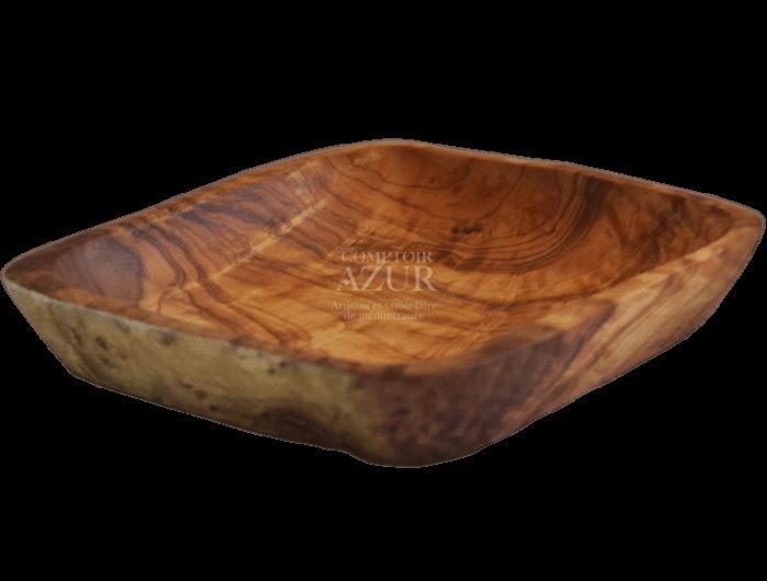 coupelle carrée en bois d'olivier 3