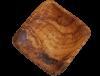 coupelle carrée en bois d'olivier