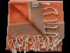 Fouta orange rayée liseré argent 3