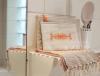trousse maquillage brodée arabesque orange