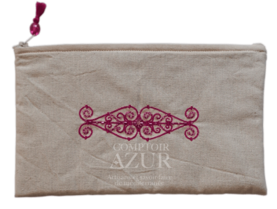 trousse maquillage arabesque rose moyenne