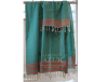 Fouta turquoise rayée rouge 2