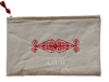 trousse maquillage brodee arabesque rouge moyenne