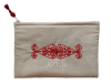 trousse maquillage brodee arabesque rouge petite