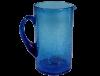 carafe en verre soufflé turquoise 3