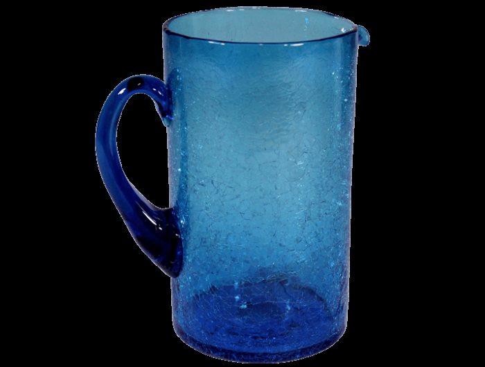 carafe eau en verre souffl bleu turquoise produit d 39 artisanat. Black Bedroom Furniture Sets. Home Design Ideas