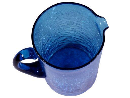 carafe verre soufflé turquoise 2